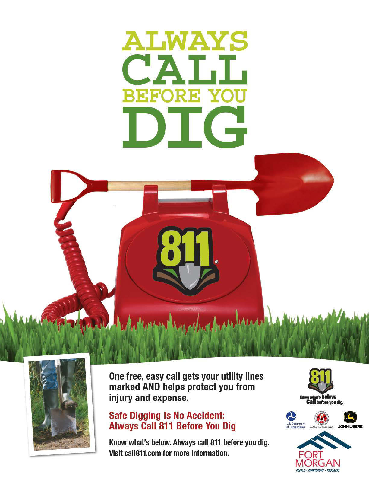 811 Homeowner Ad - Call Before you Dig